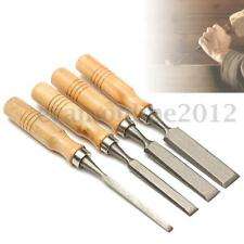 Set of 4 - 8/12/16/20mm Wood Work Carving Chisel Tool For Woodworking Carpenter
