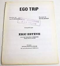 Partition sheet music MICHEL BERGER / ERIC ESTEVE : Ego Trip 70's Promo