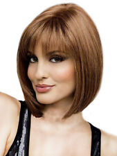 Lady Women BOBO Short Straight Wig Fashion Cosplay Party Brown/ Blonde Synthetic