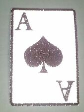 "(SS) Reflective ACE OF SPADES 2"" x 3"" iron on patch (3450) Biker Vest cap"