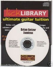 Lick Library Brian Setzer Guitar Jamtrax Jam Trax CD LEARN STRAY CAT STRUT HITS