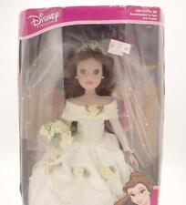 Disney Princess Belle Procelain Keepsake Doll Beauty & The Beast 16in. Brass Key