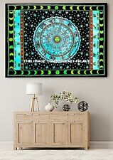 Horoscope Tapestry Indian Zodiac Astrology Large Wall Hanging Hippie Dorm Throw