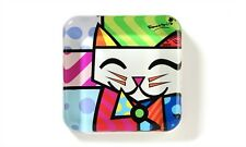 ROMERO BRITTO GLASS PAPERWEIGHT- CAT DESIGN