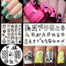 3Pcs/set BORN PRETTY Owl Pattern Nail Art Stamping Stamp Image Plates Template