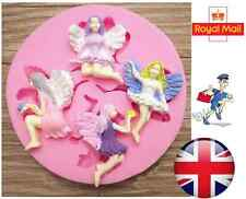Fairy Angel Girl Silicone Christmas Mould Fondant Cake Topper Modelling Tools