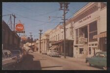 Postcard GRASS VALLEY California/CA Mill Street Business Storefronts view 1950's