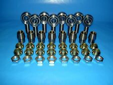 "7/8"" x 3/4"" 4-Link Chromoly Rod End Kit w/ Cone Spacers Heim (Bung 1-3/4 x.188)"