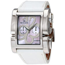 Milus Apiana Pink Mother of Pearl Chronograph Automatic Ladies Watch APIC004