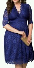 New blue lace  Evening Dress Size 16-18-20-22