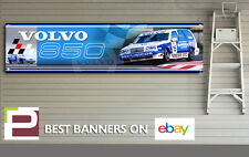Volvo 850 BTTC Banner, Workshop, Garage, Track, Rickard Rydell, 1300mm x 325mm