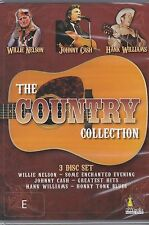 THE COUNTRY COLLECTION - WILLIE NELSON - JOHNNY CASH - HANK WILLIAMS - 3 DVD's