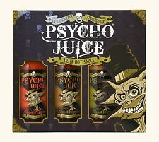 Dr Burnorium Psycho Juice Ghost Pepper Collection Pack Of 3 Hot Sauces Gift Set