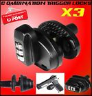 3x Combination Trigger Locks Pistol Rifle Shotgun Gun Lock Safe Black Universal