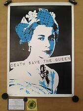 """DEATH NYC sérigraphie """"QUEEN BLUE"""" sign-num  -Banksy/space invader/fairey/cope2"""