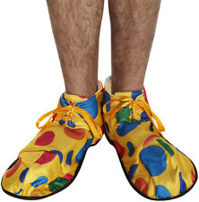 Yellow spotty soft fabric clown shoes fancydress accessory