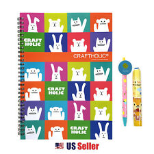 CRAFTHOLIC School Supply Stationary Gift Set Notebook Pencil Eraser : Animals
