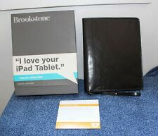 Brookstone Black Leather Tablet Envelope Carrying Case For iPad or iPad 2 - NEW!