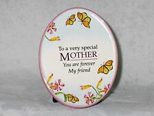 """Mother's Day Natural Expressions Ceramic Plaque  """"Special Mother Forever Friend"""""""