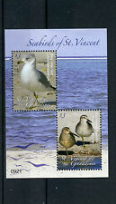 St Vincent & The Grenadines 2009 MNH Seabirds 2v S/S Gull Dowitcher Waders Birds