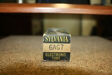 6AG7 SYLVANIA VINTAGE METAL TUBE- NOS IN BOX