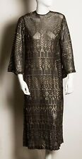 Very Rare Black with Silver Antique Art Deco Assuit Dress