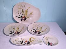 5 Vintage REDWING Red Wing Pottery Serving Platter Plate Saucier Bread Dish Lot