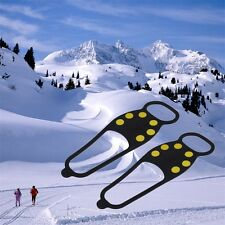 Durable Ice Snow Anti Skid Shoe Spikes Grips Crampons Hiking Fishing Newest F7