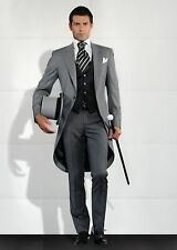 Custom Made Mens Wedding Tuxedos Morning Suits Groom Best man  Prom Tailcoat