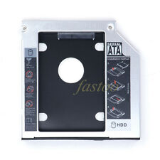 12.7MM 2nd SATA to SATA HDD SSD Hard Drive Bay Caddy for Laptops HP DELL SONY fo