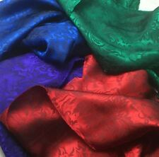 Silk JACQUARD Floral Baroque Jewel Tones Silk Fabric Sample Set Remnants Lot