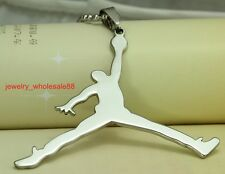 Men's Stainless Steel Jordan design Pendant Necklace for Mens Basketball fans