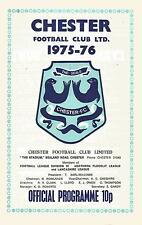Football Programme - Chester v Halifax Town - Div 3 - 1976