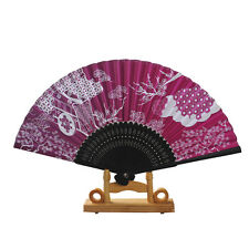TouHou Project Saigyouji Yuyuko Engraving Process Folding Fan Cosplay Fan