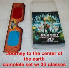 JOURNEY TO THE CENTER OF THE EARTH 3D -  complete set trading cards WITH GLASSES