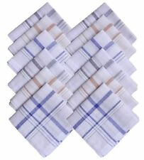 4 pc. 100% Cotton Line Hanky Stripe Pattern Handkerchiefs (Pack of 4)