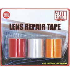 New 3 Roles Car Lens Repair Tape Light Indicators Rear Front Red Orange Clear