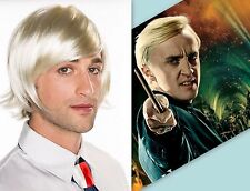 Halloween Harry Potter Malfoy Blonde Short Cosplay Wig Costume  WT0012