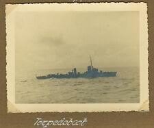 """Deutsches Reich 2. Weltkrieg Foto """"Torpedoboot"""""""