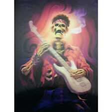 Hot Skull Music Guitarist Lenticular 3D Picture Painting Home Wall Art Decor