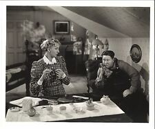 * YOUNG PEOPLE (1940) Jack Oakie in Overalls with Charlotte Greenwood at Home