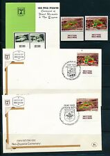 ISRAEL 1982 CENTENIAL SETTLEMENTS STAMPS MNH + FDC + POSTAL SERVICE BULLETIN