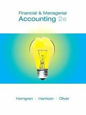 Financial and Managerial Accounting, Chapters 15-23 (2nd Edition) (Cha-ExLibrary