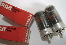 PAIR 1973 Sylvania/RCA 7C5 radio tubes - Hickok TV7B tested @ 66, 72, min:38