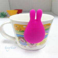 New Silicone Gel Rabbit Shape Tea Bag Infuser Holder Mug Gift Grill Tool Random
