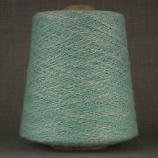 CREAM + TURQUOISE PURE COTTON YARN BIG 500g CONE 10 BALL ECRU KNIT CROCHET WEAVE