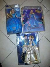 Lot of 3 Disney Store Film Collection Cinderella Live Action Dolls & Prince