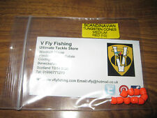 Packet of 10 V Fly Medium Scandinavian Tungsten Coneheads for all Salmon Flies