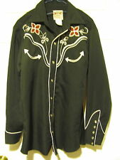 H bar C California Ranchwear vintage mens western shirt 14 1/2