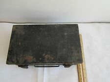 Old First Aid In Accents Metal Case With New Sealed Medical Appliance & Supplies